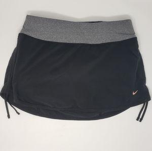 Nike | Dri-Fit Black & Gray Small Skort